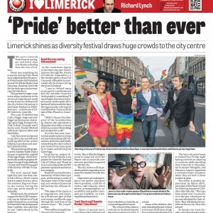 Limerick Chronicle Column 2 September 2014