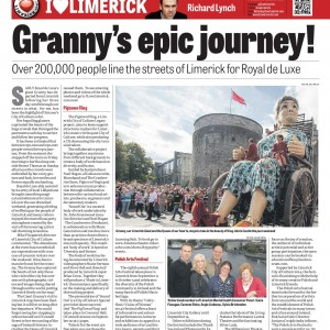 Limerick Chronicle Column 9 September 2014