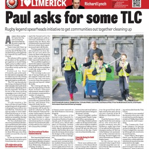 Limerick Chronicle Column 23 September 2014