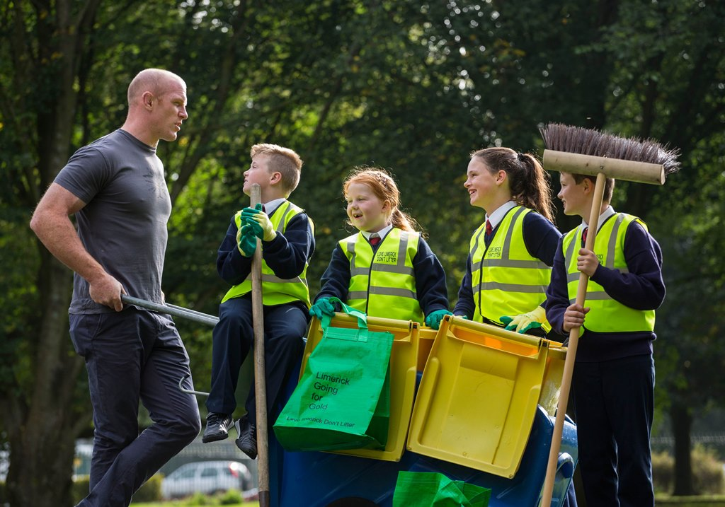 PAUL O'CONNELL LAUNCHES MASSIVE CLEAN-UP CAMPAIGN FOR LIMERICK Local Government Awards