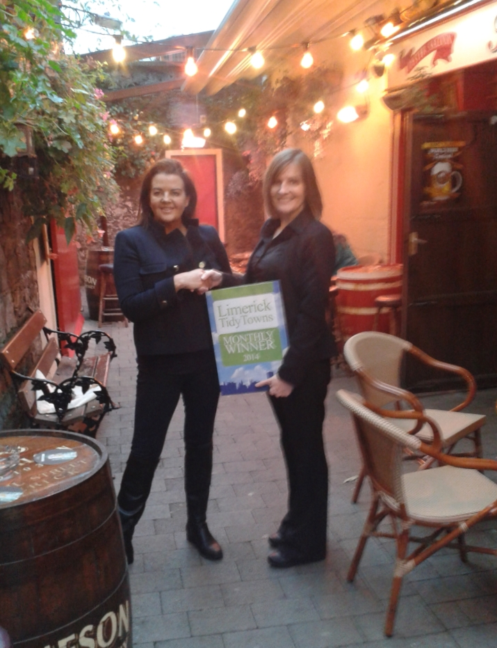 October Limerick Tidy Towns Award goes to Tom Collins Pub