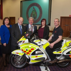 Blood Bike Mid-West officially launched by Michael Noonan