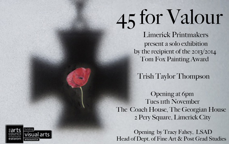45 for Valour exhibition by Trish Taylor Thompson