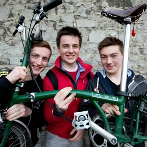 Kevin Dunne, Stephen Johnson and Jordan Kelly from the University of Limerick at the awards event. Pic Sean Curtin Photo.