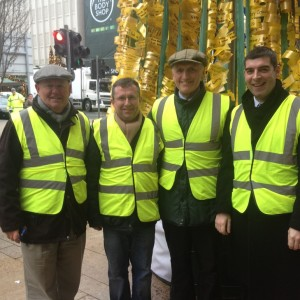 Limerick Thomond and Cuan Mhuire Volunteers at Tree of Remembrance on Bedford Row. Photo: Michael