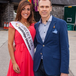 Dawn Ryan, the Limerick Rose at Limerick LGBT Pride 2014 with her date Richard Lynch of ILoveLimerick.com. Picture: Dolf Patijn