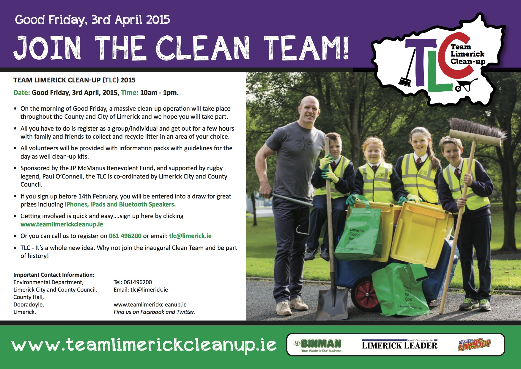 team limerick clean up TCL flyer limerick