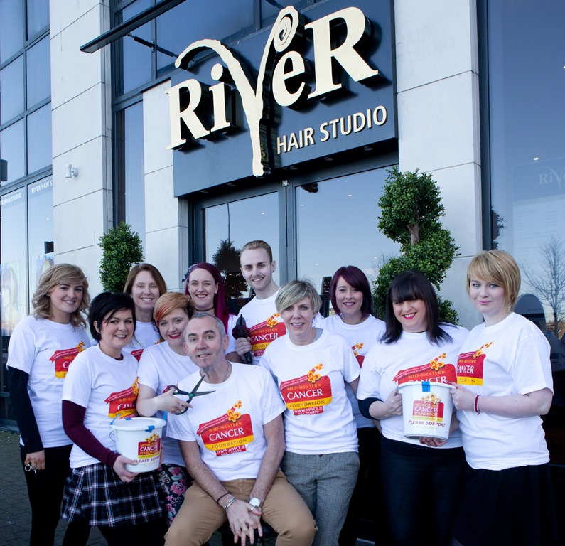 River Hair Studio raising money for Mid-Western Cancer Foundation.