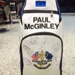 A signed bag by Paul McGinley who won the 2004 Ryder Cup will be auctioned off to raise funds for the charity.