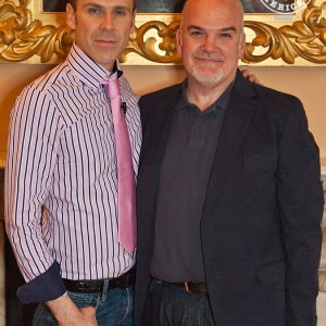 Richard with his good friend, acclaimed fashion designer John McNamara. Picture: Dolf Patijn