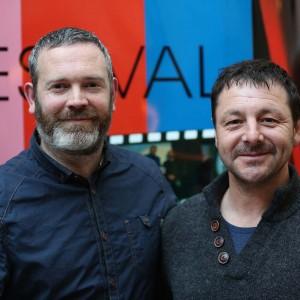 Festival Organiser Simon Mc Guire and actor Zeb Moore