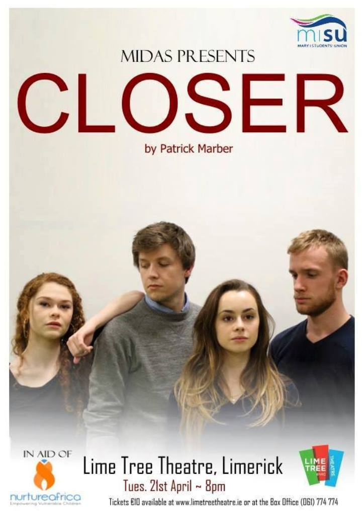 MIDAS Presents Closer at the Lime Tree Theatre