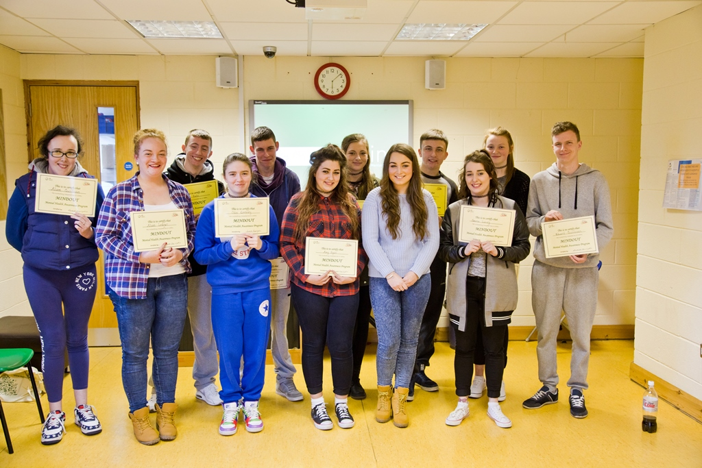 Southill teens complete Mindout Mental Health Awareness Programme 2015