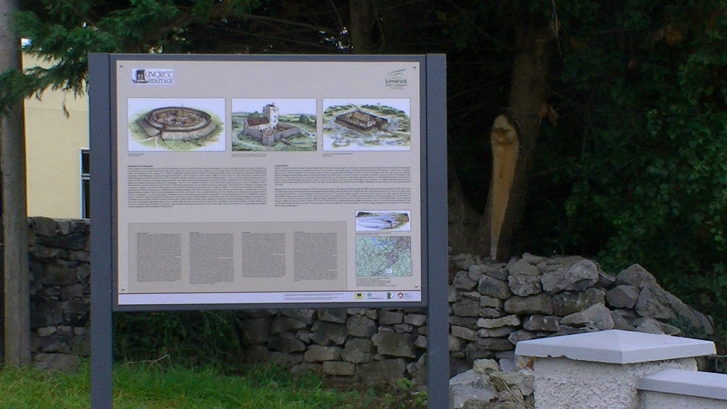 Interpretive signage putting Limerick village Mungret on the tourist trail