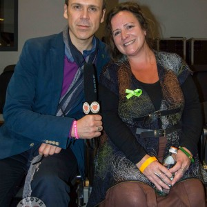 Richard Lynch with Amanda Clifford who helped organise the Limerick Mental Health Association Green Ribbon Event. Picture: billy Butler.