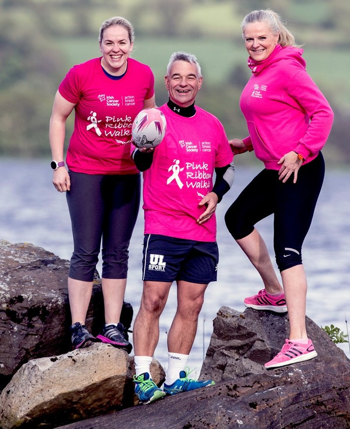 Niamh Briggs supports Killaloe Pink Ribbon Walk 2015