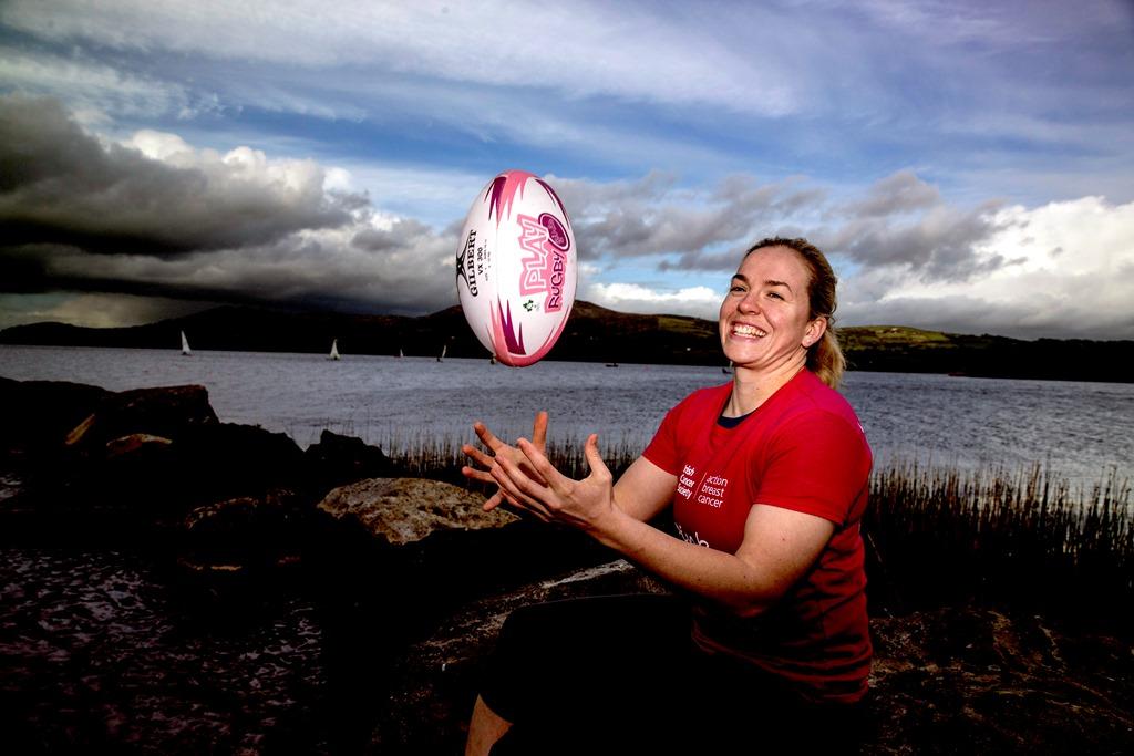 Niamh Briggs supports Killaloe Pink Ribbon Walk 2015