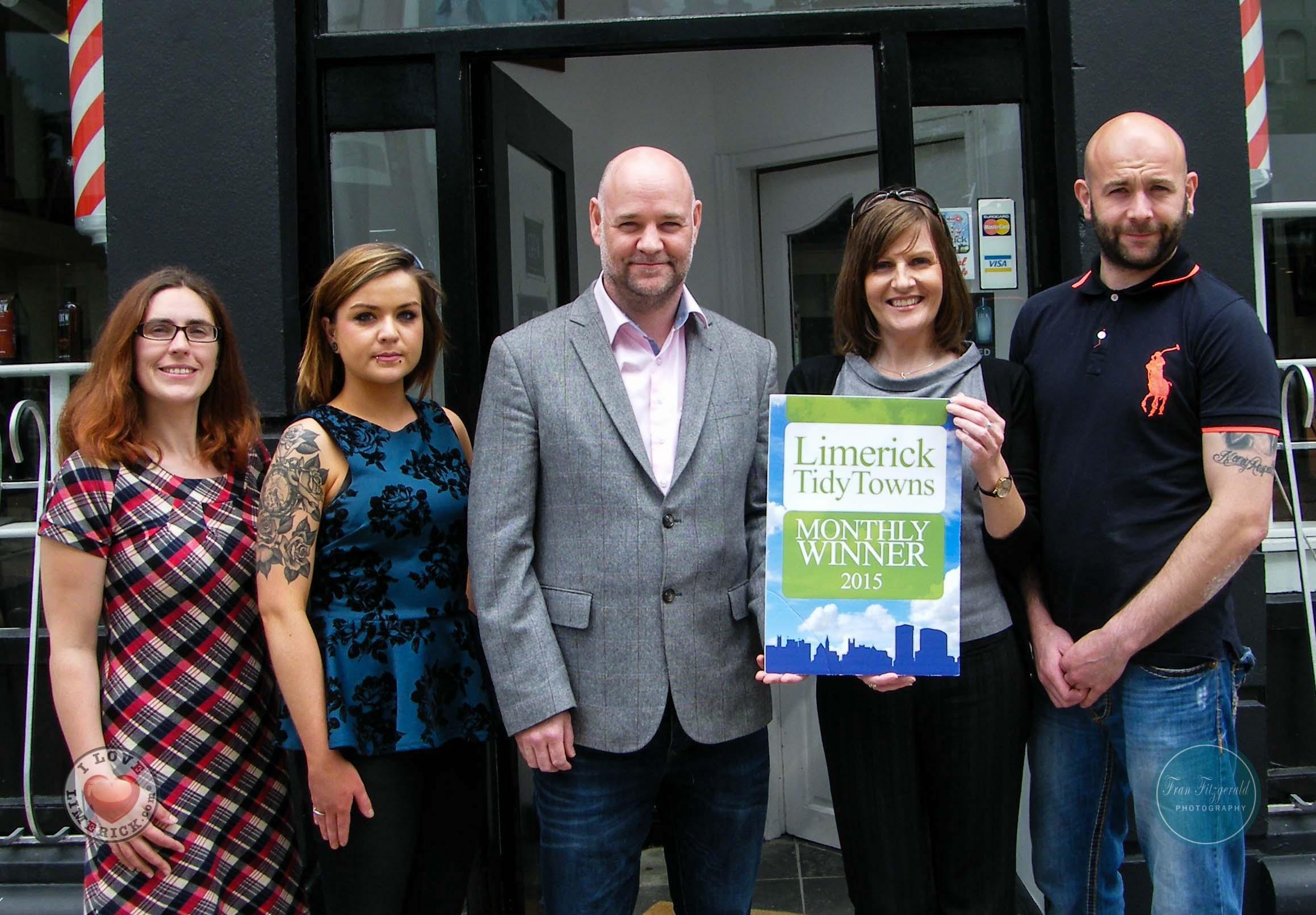 Limerick Tidy Towns awards Figaro Barber Shop as winner for June 2015