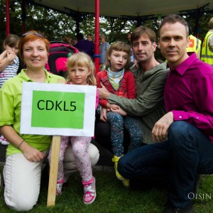 Richard pictured at last years CDKL5 Awareness Day 2014  with Jonna, Emma, Maia and Brendan Malone. Picture: Oisin Mc Hugh