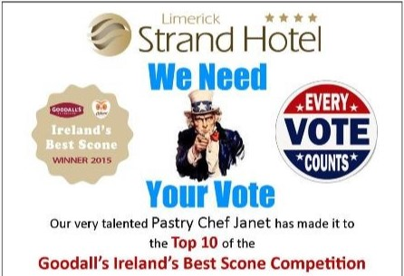 Limerick Strand Hotel is Shortlisted for Ireland's Best Scone