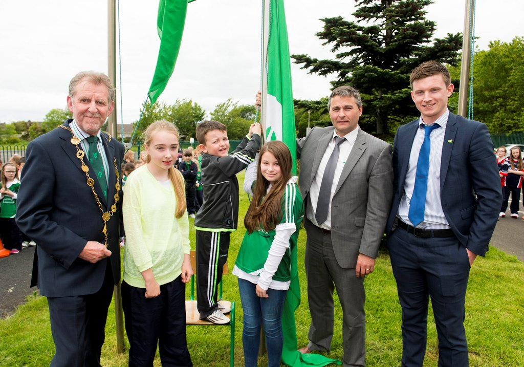 St Brigids National School raise 5th Green Flag