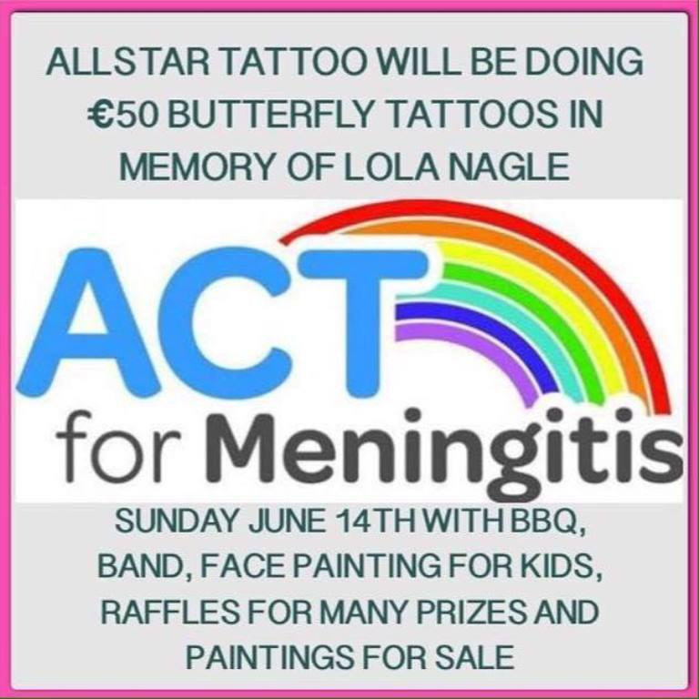 AllStar Ink Tattoo fundraiser for ACT for Meningitis