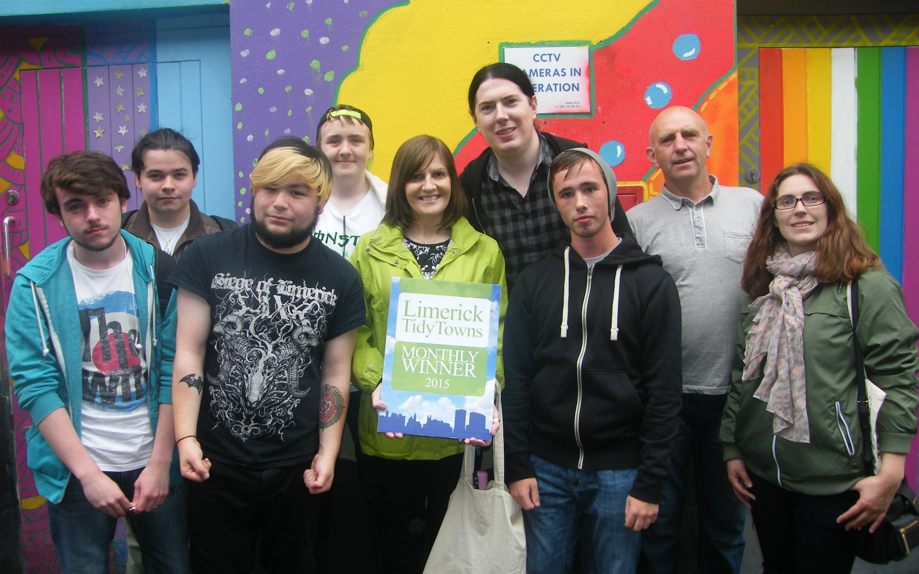 Limerick Youth Service wins award from Limerick Tidy Towns for July