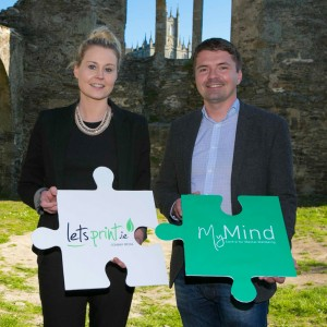 Trish Delahunt of Letsprint.ie and Krystian Fikert of MyMind