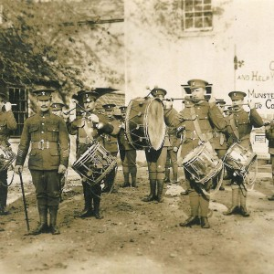 The Royal Munster Fusiliers drumming up recruits in Limerick in 1914.