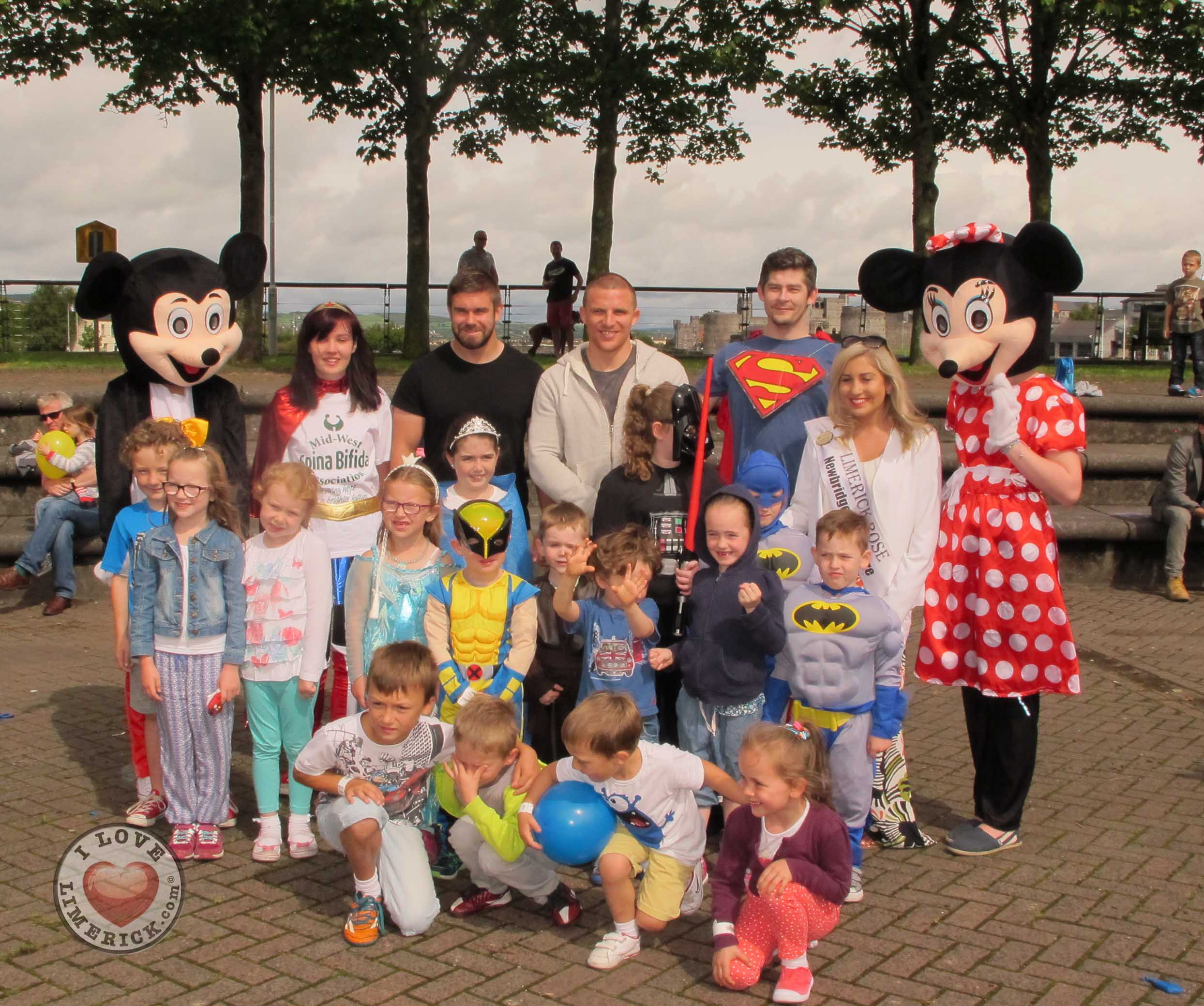 Limerick Superhero Parade 2015 in aid of Mid-West Spina Bifida Association