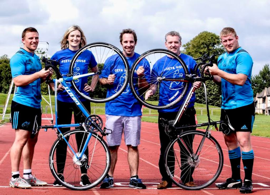 Munster rugby players kick off Pieta 100 National Cycle Weekend in Limerick