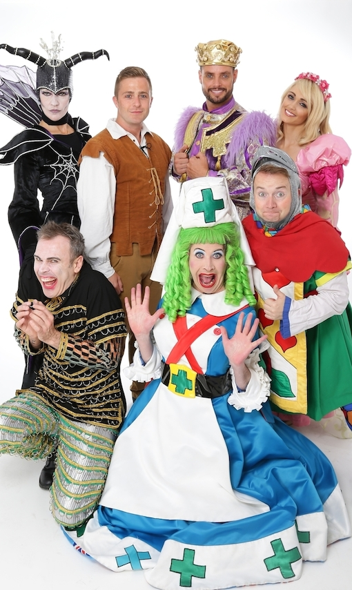 Richard with Hilda Fay, George McMahon, Keith Duffy, Leanne Moore, Myles Breen and Richie Hayes who are all coming back for Sleeping Beauty this Christmas!
