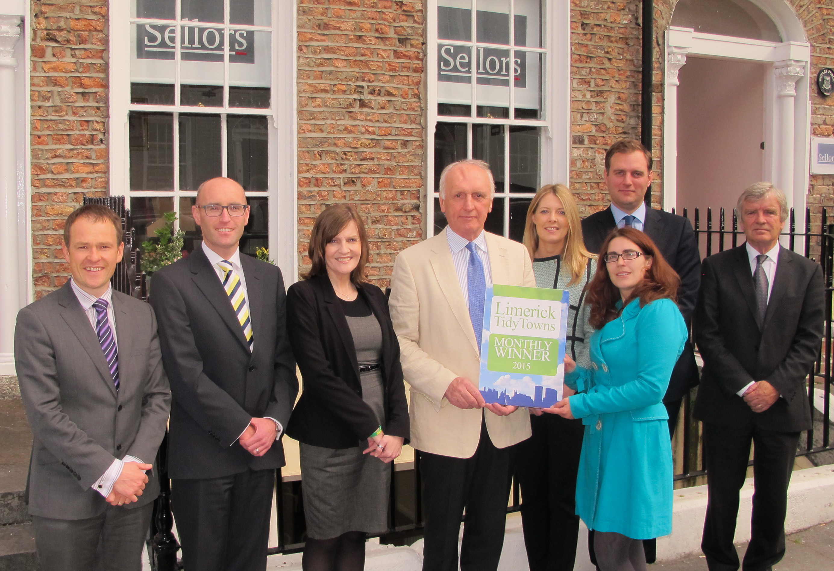 Limerick Tidy Towns award Keating Connolly Sellors for month of September