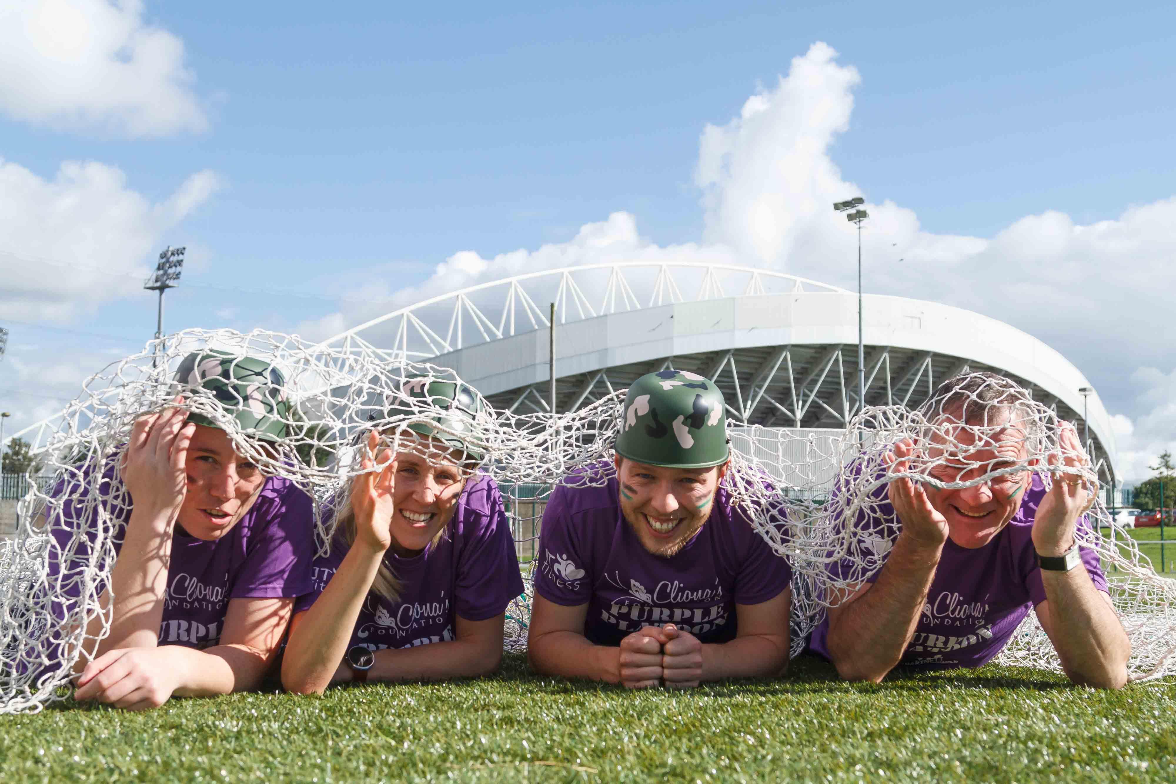 Sports stars join ranks of Clionas Foundation Purple Platoon