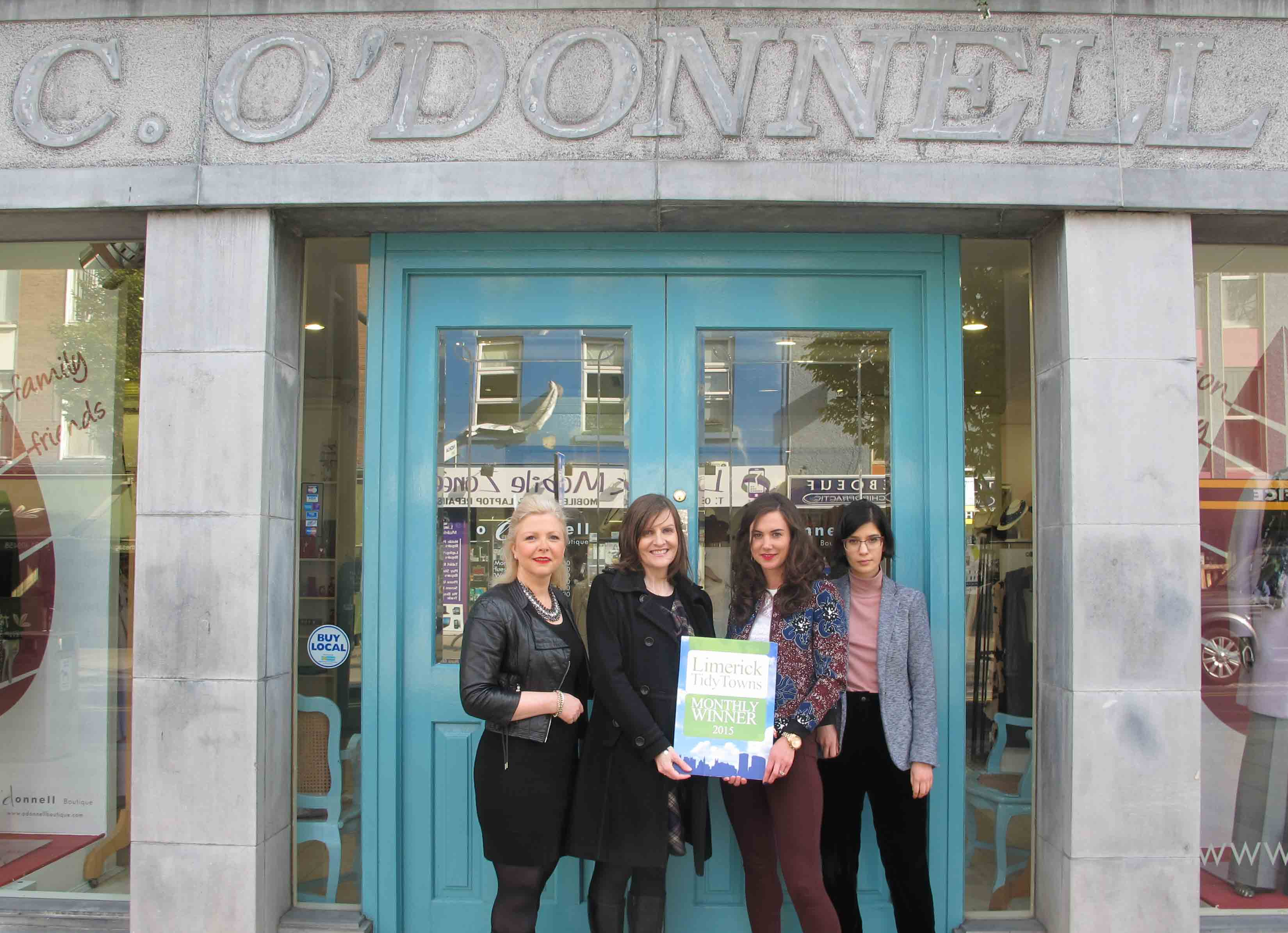 Limerick Tidy Towns award O'Donnell Boutique for month of October