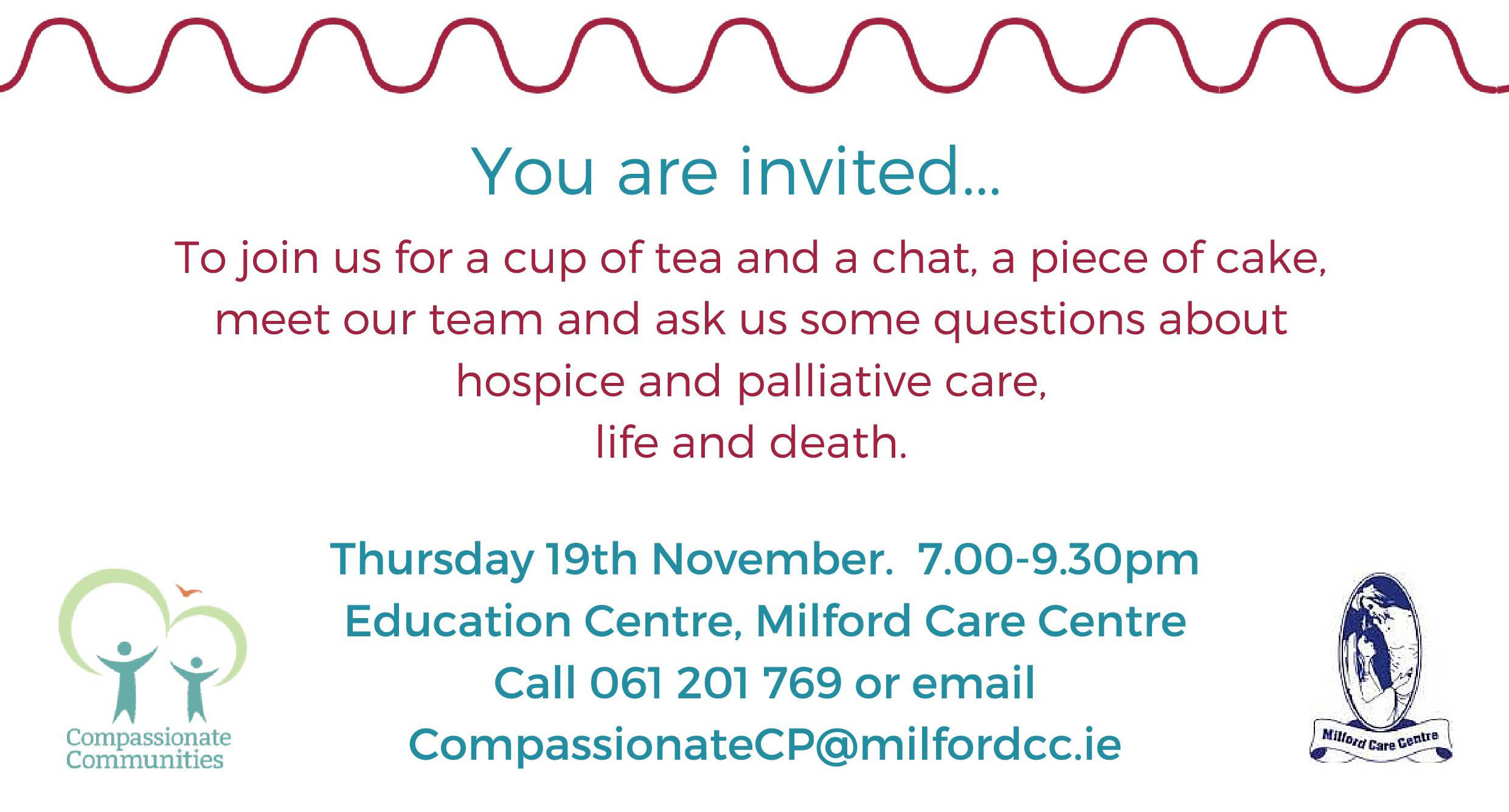 Milford Care Centre open evening to be held in November
