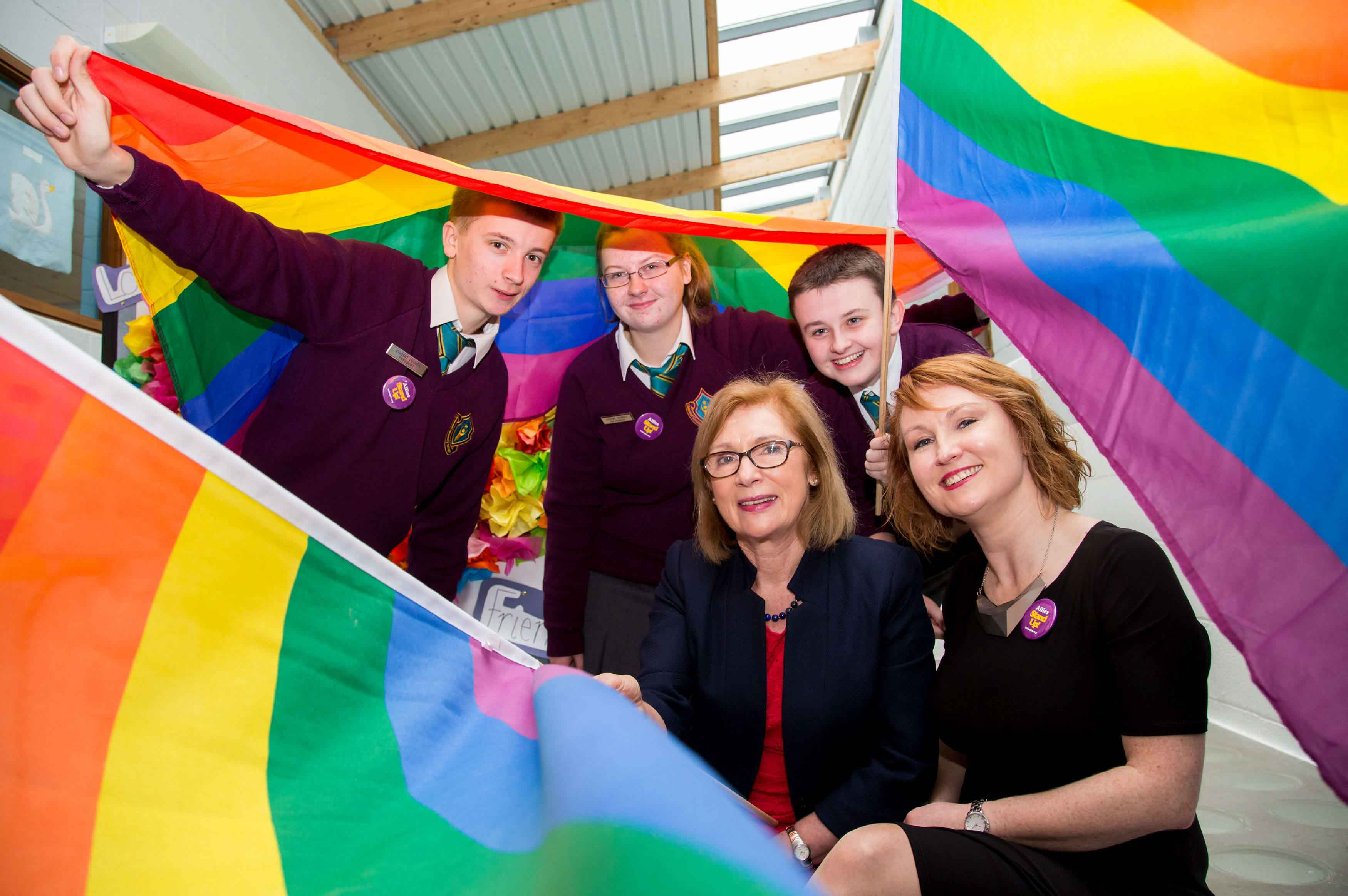 Stand Up week launch in Limerick on behalf of BeLonG To