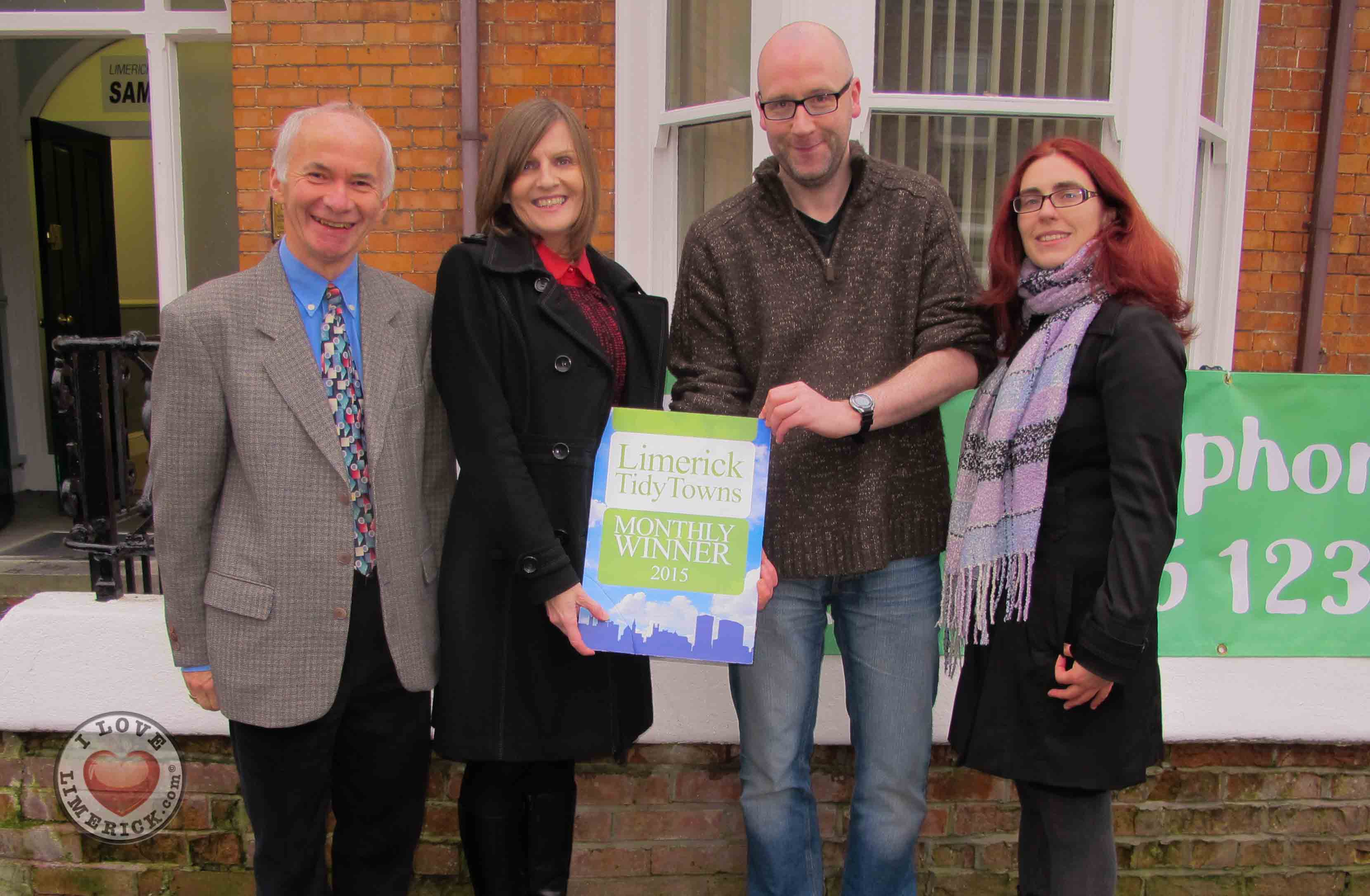 Limerick Tidy Towns award Samaritans for the month of November