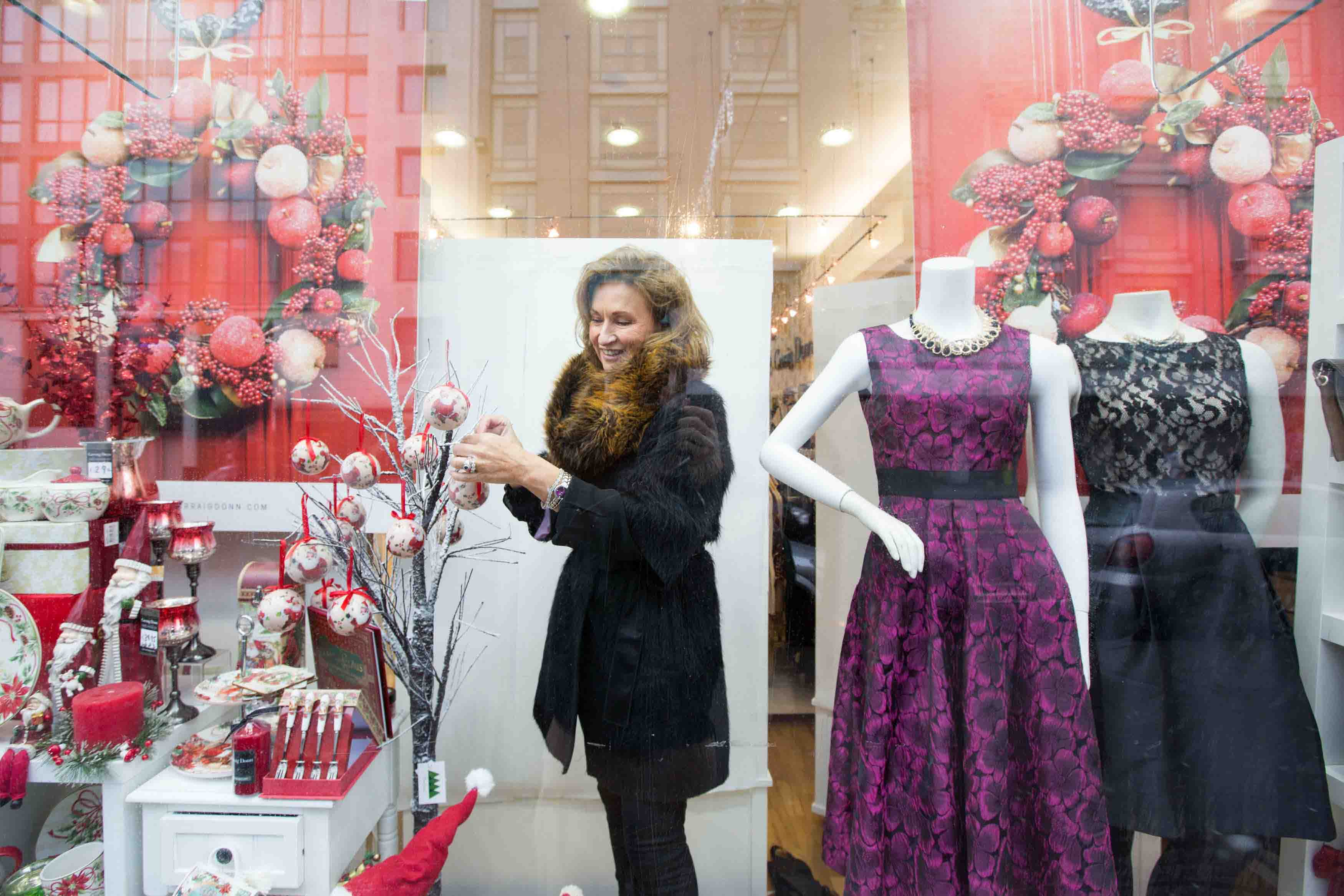 Limerick Festive Window Display for city fashion retailers