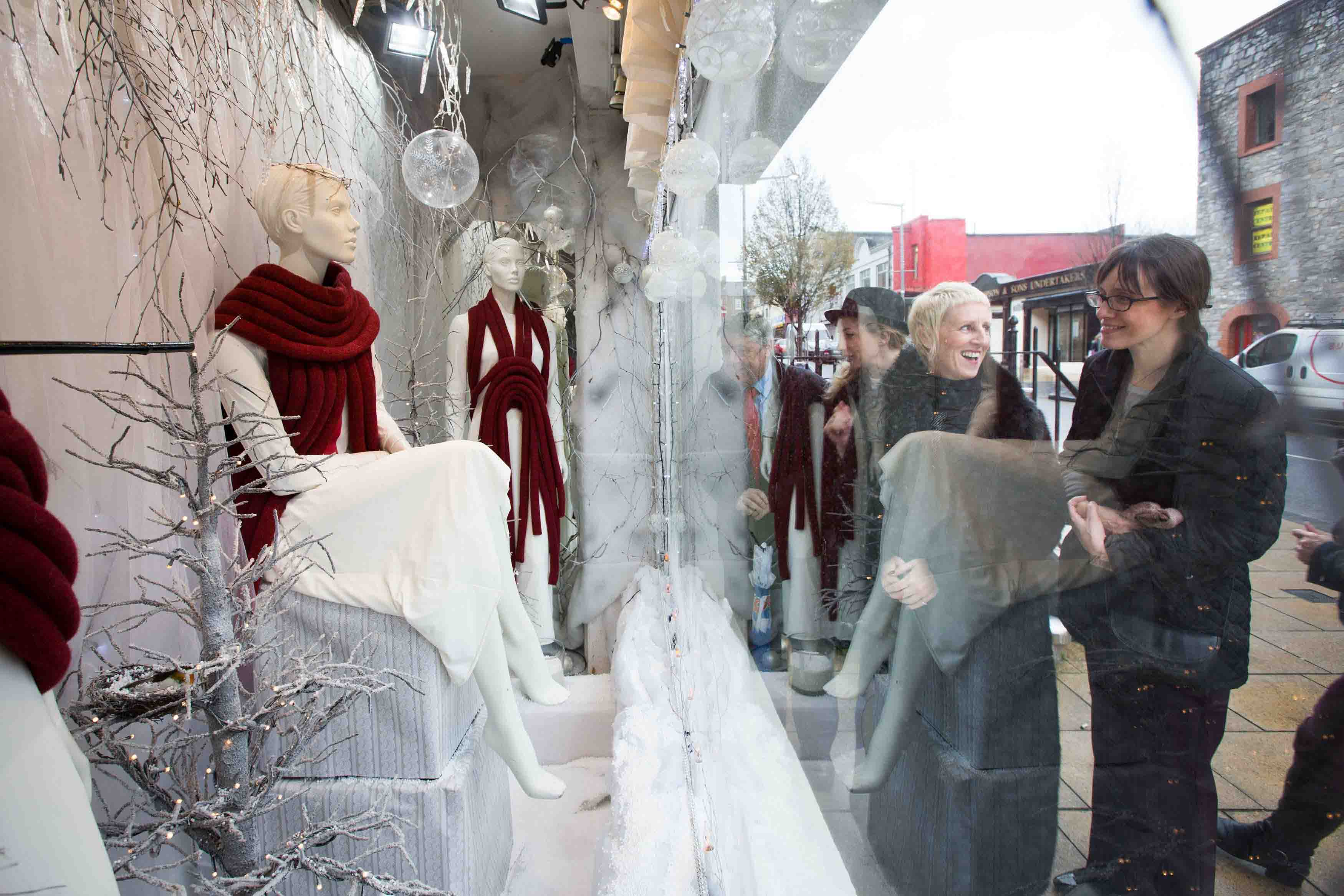 Limerick Festive Window Display for city fashion retailers
