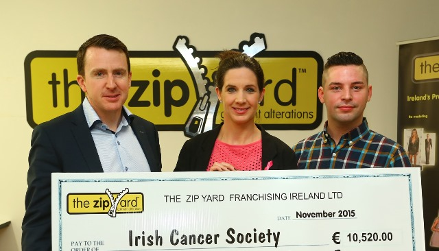 The Zip Yard Paint it Pink fundraiser hands over €10,000 to The Irish Cancer Society