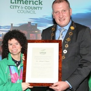 Special Olympics star Ashleigh O Hagan civic reception in Limerick
