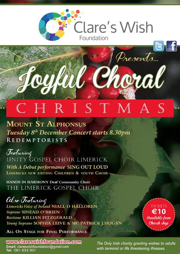 Clares Wish a Joyful Choral