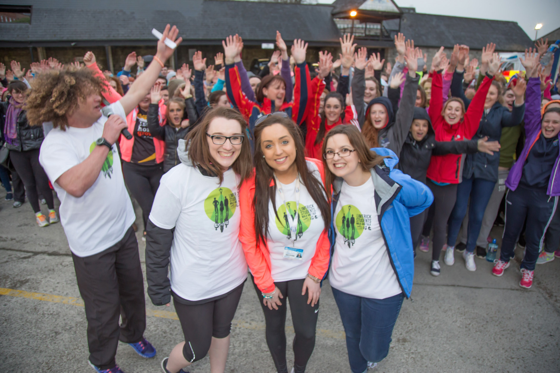 At Walk and Talk for Pieta House - Ciara Corcoran (Welfare Ul), Alison Dervan (Mary I Vice president), Mairead Keheo (LIT Vice President)