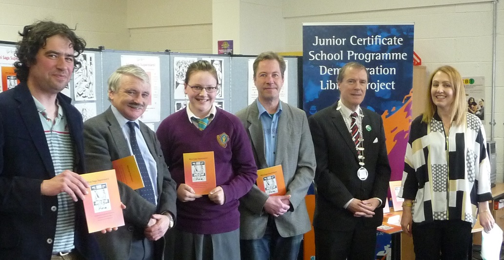 Launch of Mini Saga Superstars book by Limerick JCSP students