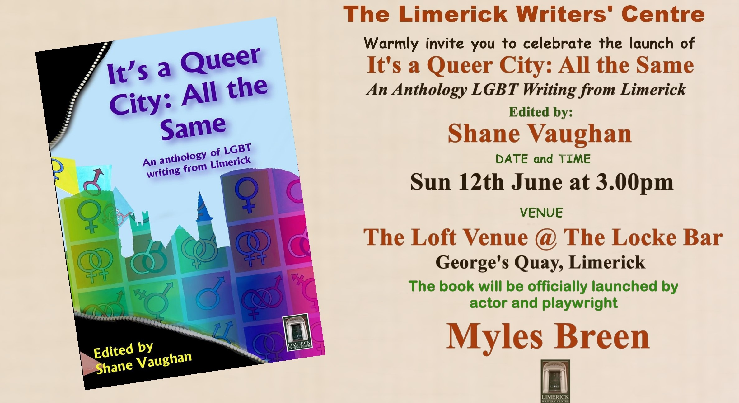 Limerick Writers Centre launches Its a Queer City All the Same
