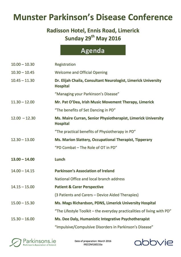 Munster Parkinsons Disease Conference