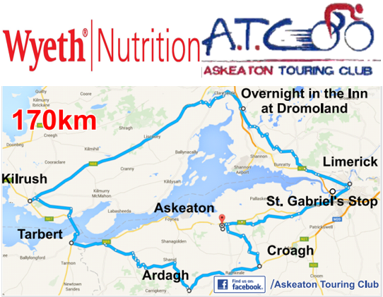 Wyeth Nutrition and Askeaton Touring Club Annual Charity Cycle 2016