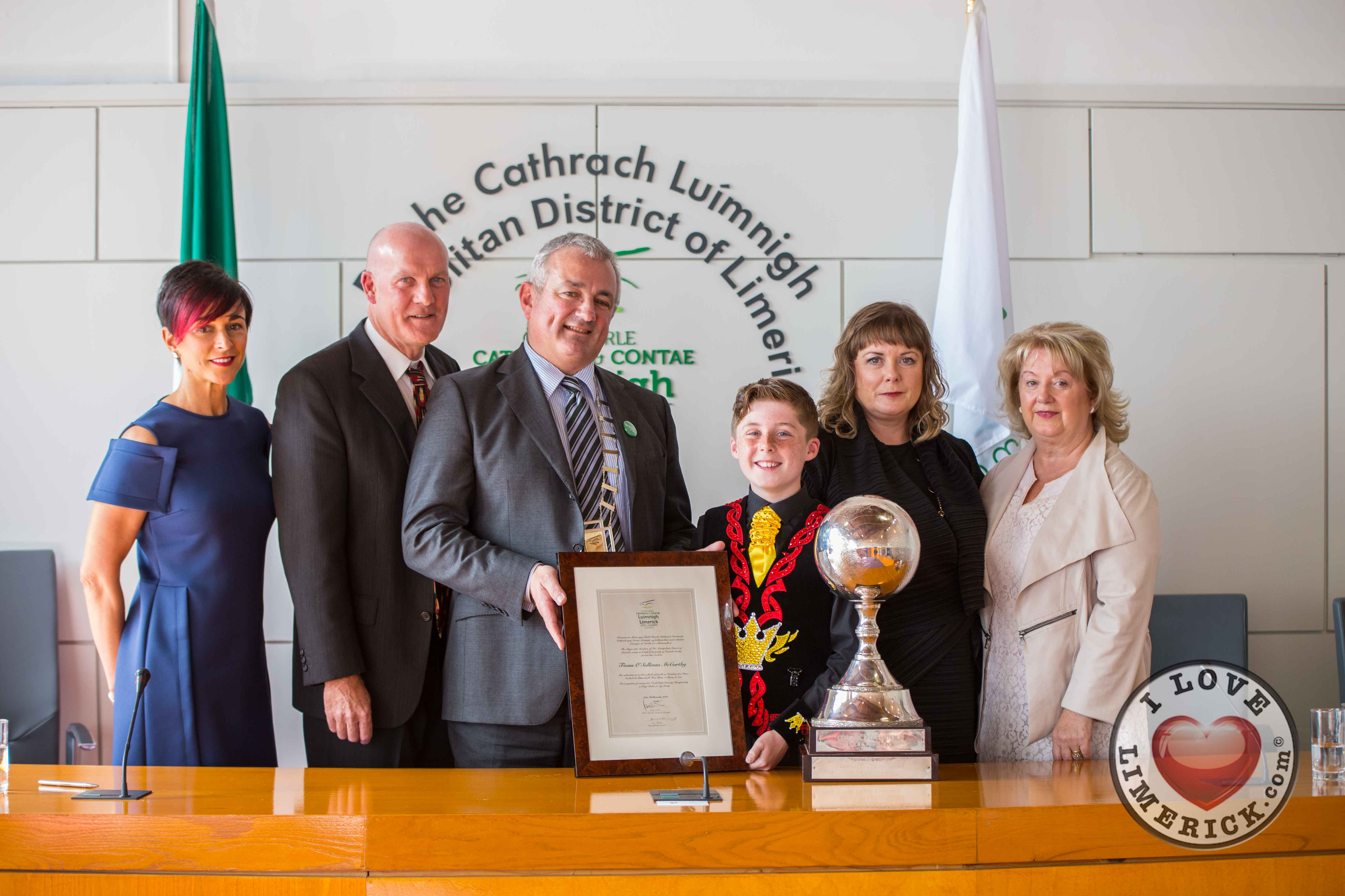 Fionn O Sullivan McCarthy receives Civic Reception