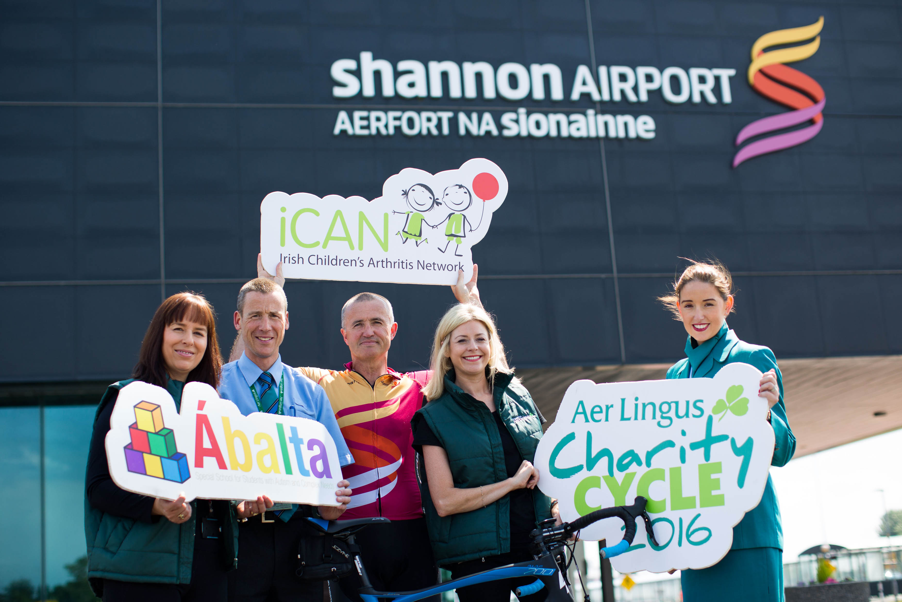 Shannon Airport Aer Lingus Charity Cycle July 2016